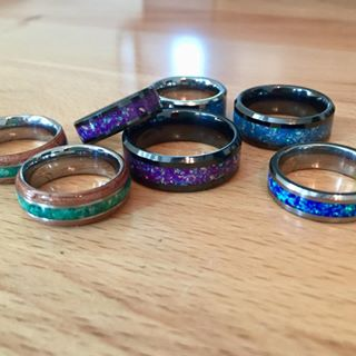 wedding bands white gold and yellow gold
