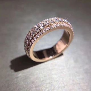 rose gold pearl wedding rings